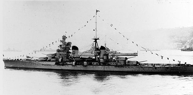 Gorizia at a pre-war fleet review