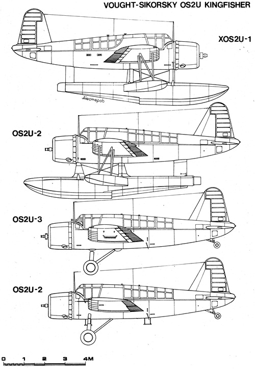 Kingfisher-OS2U-Variants