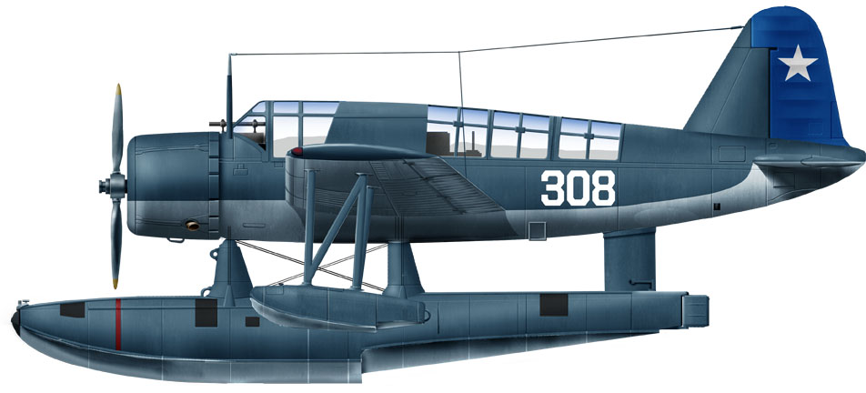 Chilean Navy OS2U-3 deployed in the Antarctic Mission in 1947