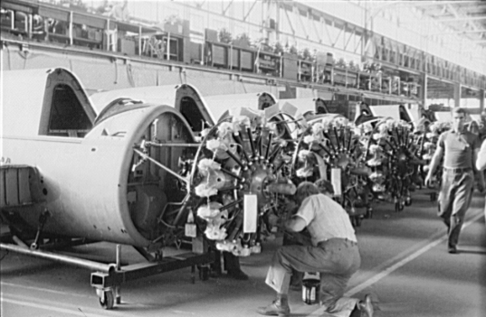 PW_R-985_engines_for_Vought_OS2Us_1940