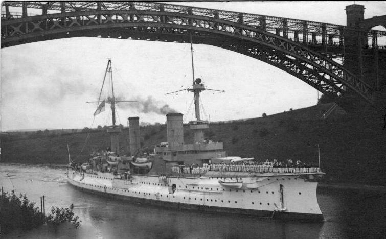 SMS Furst Bismarck in the Kiel Canal