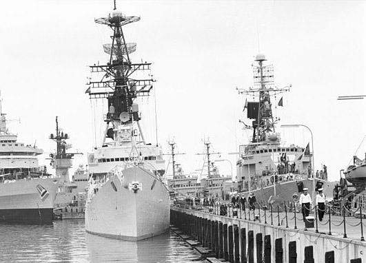Bouvet at Kiel navy week, 1971