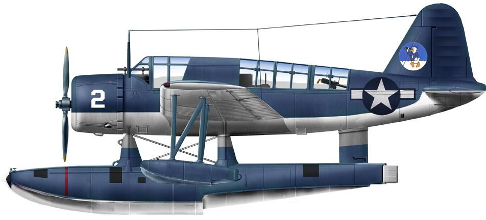 Vought OS3U-3 of an unknown USN unit