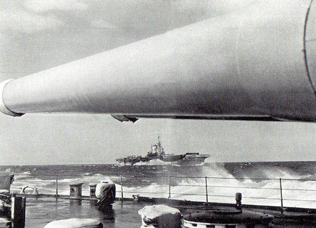 Warspite en route to Matapan