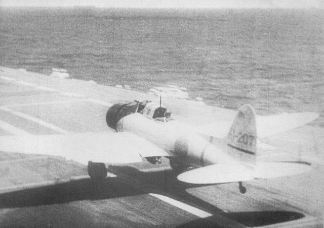 Aichi D3A taking off from Akagi
