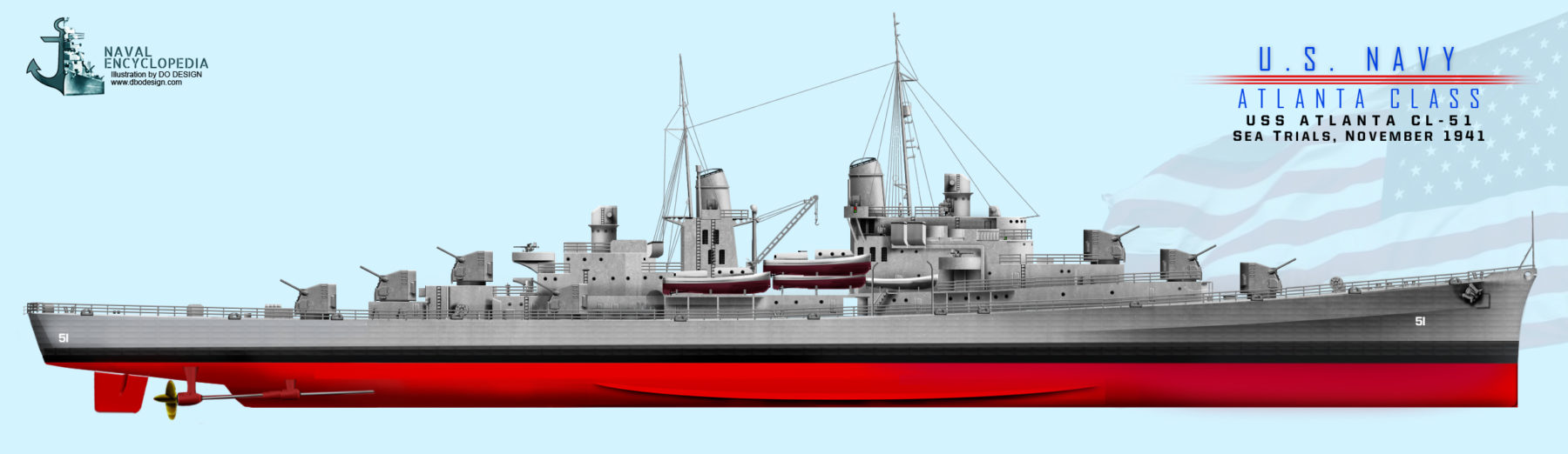 USS Indianapolis as built, before commission