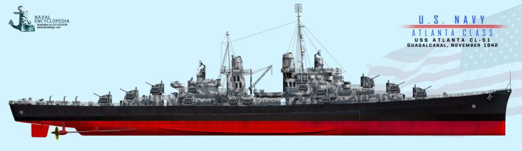 USS Atlanta November 1942