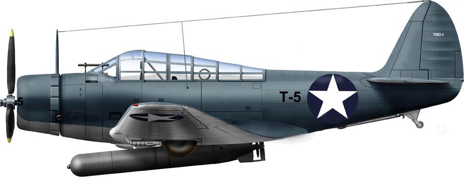Douglas TBD-1 Devastator of VT2 at the batttle of Coral Sea May 1942