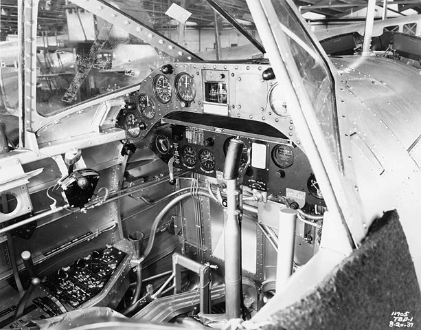 Cockpit of the TBD-1 in 1937