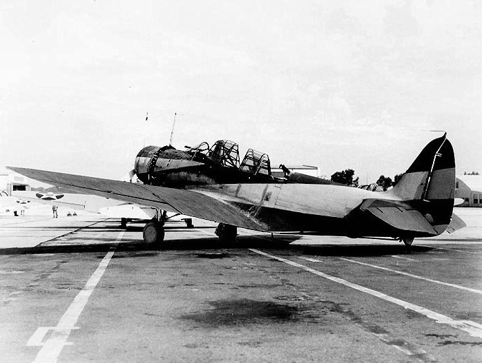 A TBD in experimental camouflage in 1940