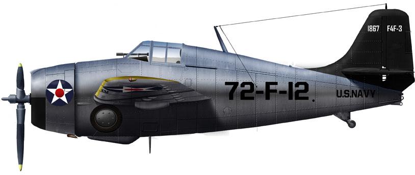 Grumman F4F-3 Wildcat of VF-7, USS Wasp, Late 1942
