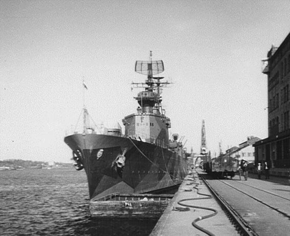 HMS Göta Lejon, camouflaged at the end of her career