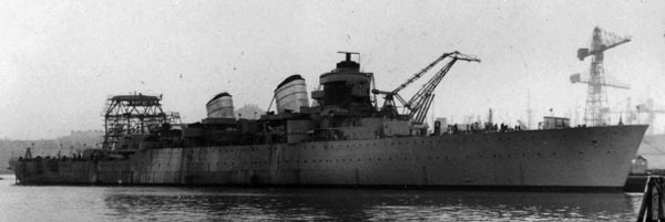 Tre Kronor in completion after launch, 1946