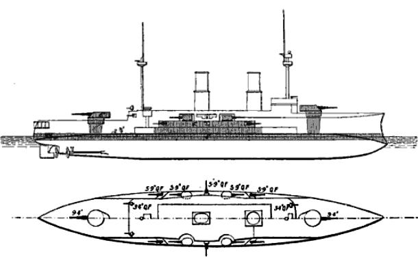 Line drawing, Brassey's 1906