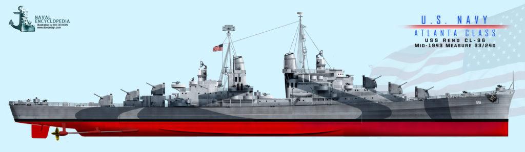 USS Reno late 1943