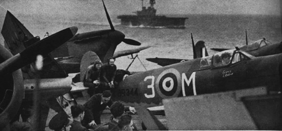 HMS Eagle accompanies Wasp on her second voyage to Malta