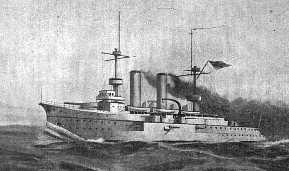 Engraving of the Prinz Heinrich