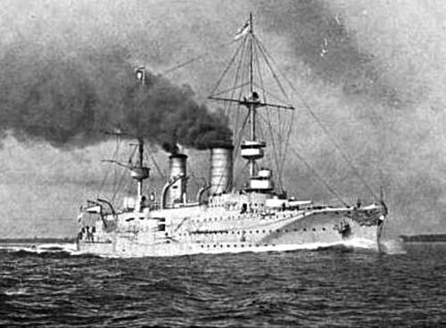 Prinz Heinrich steaming at high speed