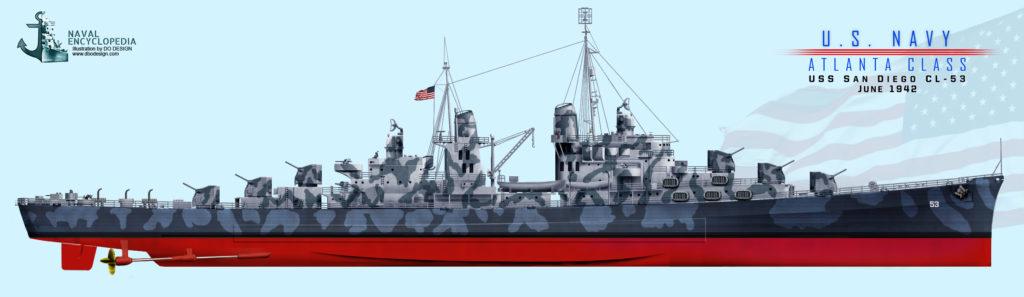 USS San Diego 1942