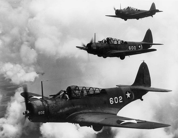 TBDs over Florida in 1942