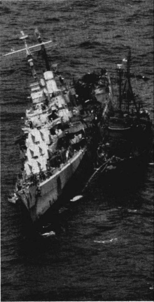 USS Reno, badly damaged November 1944