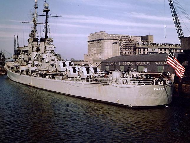 USS Fresno in Dublin, Ireland, May 1948