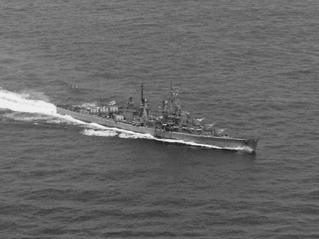 USS Juneau underway, battle of the Santa Cruz islands, 26 October 1942