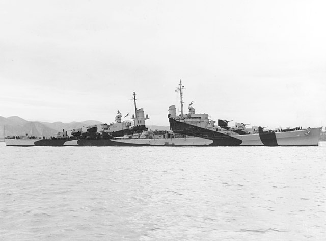 USS San Diego off Mare Island NyD 10 april 1944