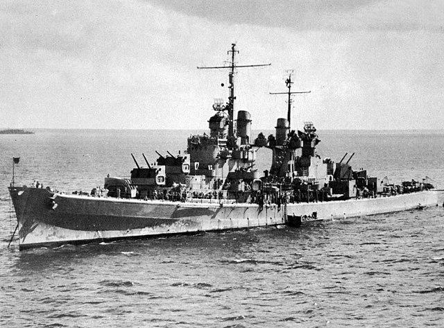 San Juan at anchor in 1942