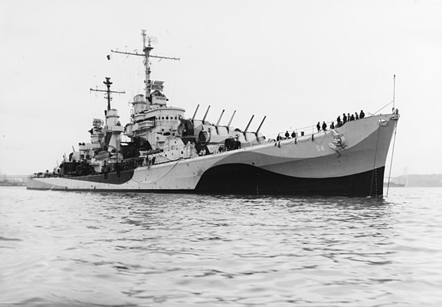 USS San Diego off San Francisco, 14 October 1944