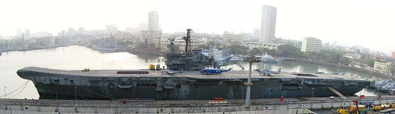 INS Vikrant preserved in Mumbai today as a museum ship
