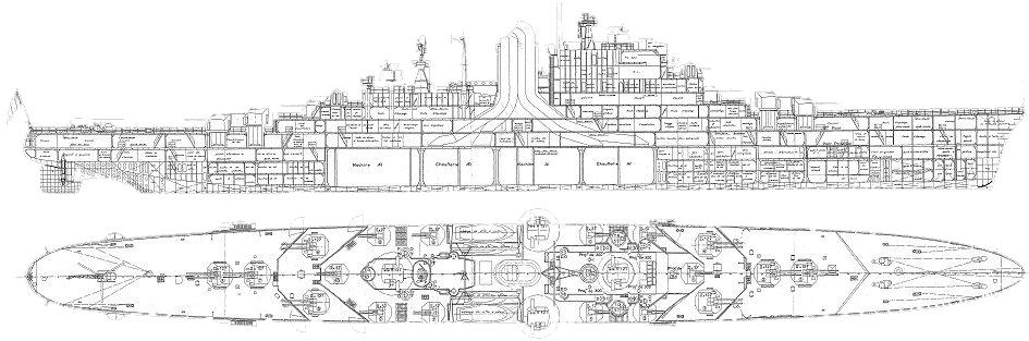 Original blueprint cutaway