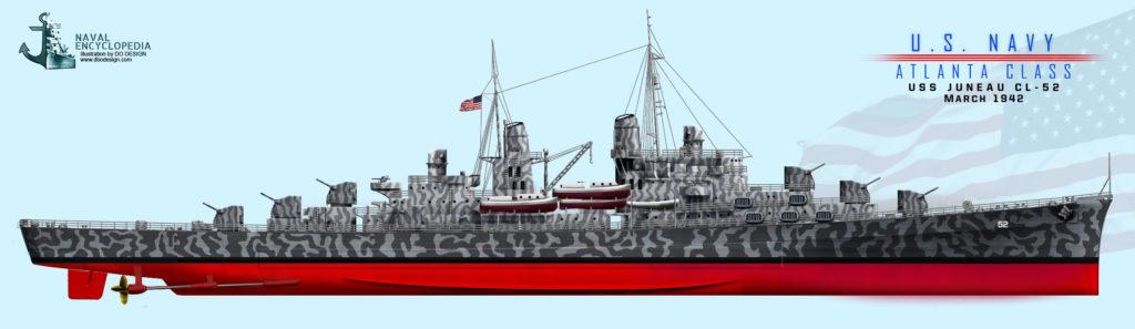 USS Juneau March 1942