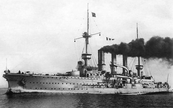 SMS Prinz Adalbert underway