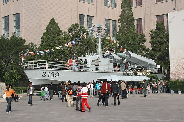 Type 024 missile boat exposed to the public