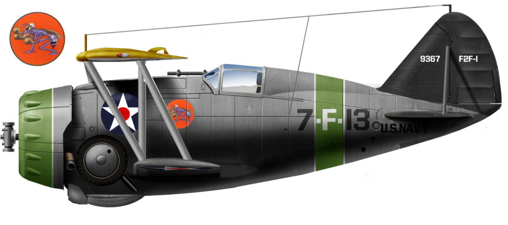 F3F-1 VF-7, USS Wasp, 1940
