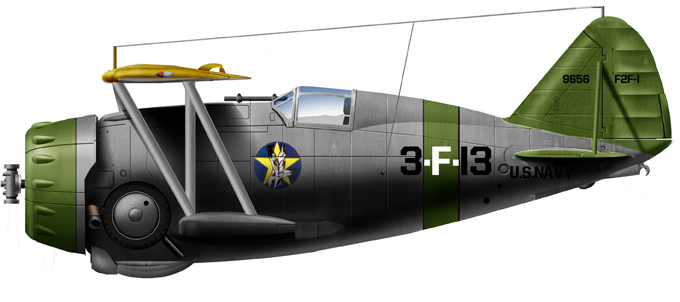 F3F-1 of VF-4, USS Ranger, 1937