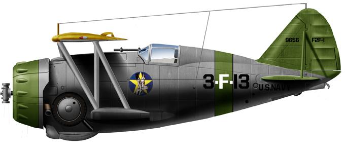 F3F-1 of VF-4, USS Ranger, 1937