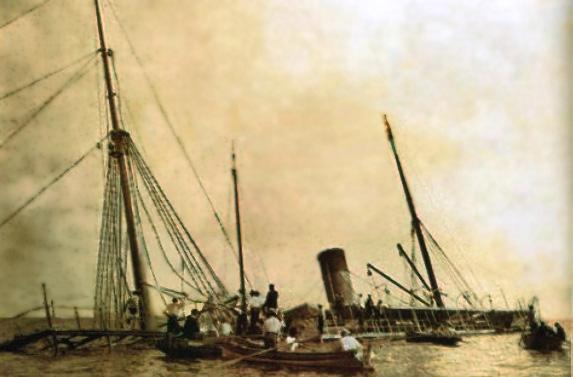 Lautaro sinking in Panama Bay