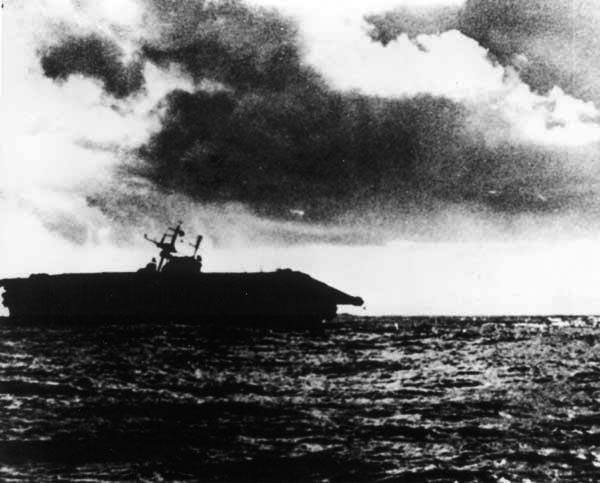 USS Hornet sinking, 26 October 1942
