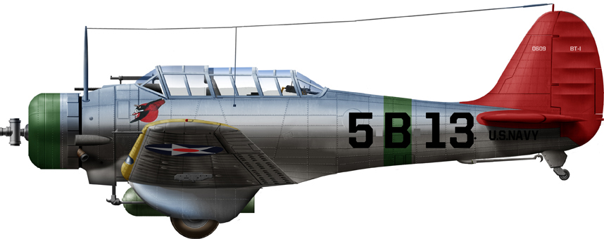 BT-1 of VB-5 (USS Yorktown), 1938