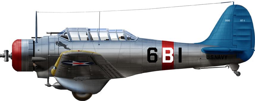 BT-1 VB-6, CV6 (USS Enterprise) 1939