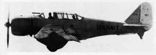 XBT-1 in flight, 1935