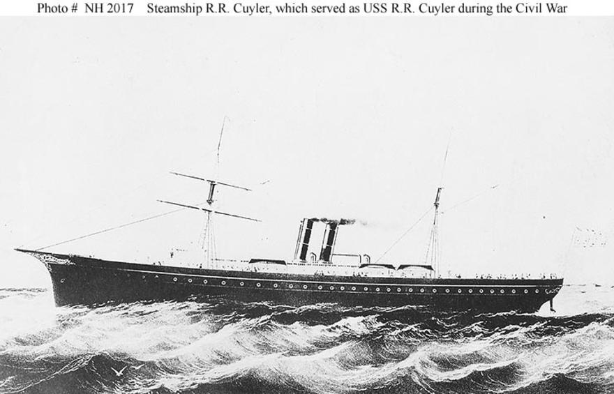 The ex-American civil war steamer RR Cuyler