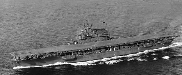 USS Enteprise off Puget Sound in 1945