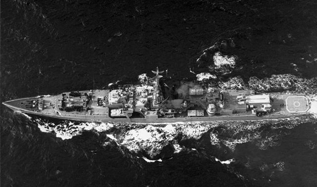 Top view of Vitze admiral Drozd, 1985