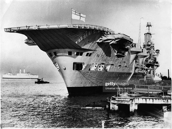 HMS Ark Royal' stern, just completed