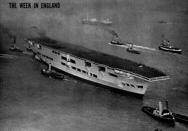 Ark Royal after launch, pending completion