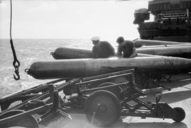 Ark Royal's crews hard at work with the torpedoes