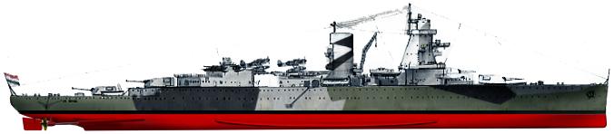 De Ruyter in January 1942